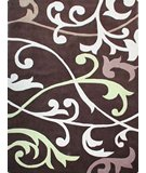 RugStudio presents Nuloom Cine Vines Brown Hand-Tufted, Good Quality Area Rug