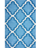 RugStudio presents Nuloom Hand Tufted Inez Blue Hand-Tufted, Good Quality Area Rug