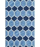 RugStudio presents Nuloom Hand Tufted Doris Navy Hand-Tufted, Good Quality Area Rug