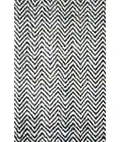 RugStudio presents Nuloom Hand Knotted Chevron Kelli Black Hand-Knotted, Good Quality Area Rug
