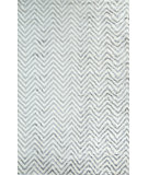 RugStudio presents Nuloom Hand Knotted Hand Knotted Luxurious Viscose Chevron Kelli Grey Hand-Knotted, Good Quality Area Rug