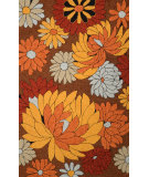 RugStudio presents Nuloom Hand Hooked Lula Brown Hand-Hooked Area Rug