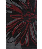 RugStudio presents Nuloom Barcelona Floral Transition Black Machine Woven, Better Quality Area Rug
