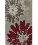 RugStudio presents Nuloom Barcelona Bold Floral Grey Hand-Tufted, Good Quality Area Rug