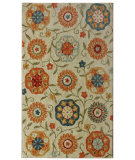 RugStudio presents Nuloom Barcelona Garden Ivory Hand-Tufted, Good Quality Area Rug