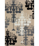RugStudio presents Nuloom Barcelona Loose Chandelier Sandy Beige Hand-Tufted, Good Quality Area Rug