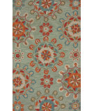 RugStudio presents Nuloom Barcelona Faded Medallions Spa Blue Hand-Tufted, Good Quality Area Rug