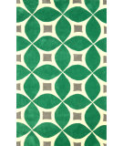 RugStudio presents Nuloom Hand Tufted Alexis Emerald Hand-Tufted, Good Quality Area Rug