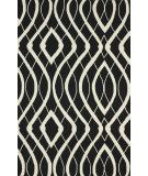 RugStudio presents Nuloom Hand Hooked Concave View Black Hand-Hooked Area Rug