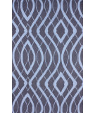 RugStudio presents Nuloom Hand Hooked Concave View Purplish Navy Hand-Hooked Area Rug