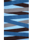RugStudio presents Nuloom Hand Tufted Blanche Blue Hand-Tufted, Good Quality Area Rug