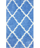 RugStudio presents Nuloom Machine Made Asha Blue Machine Woven, Good Quality Area Rug
