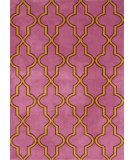 RugStudio presents Nuloom Machine Tufted Tonal Trellis Pink Machine Woven, Good Quality Area Rug