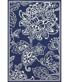RugStudio presents Nuloom Hand Hooked Cassandra Indoor /Outdoor Blue Hand-Hooked Area Rug