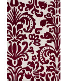 RugStudio presents Nuloom Hand Tufted Modern Scroll Red Hand-Tufted, Good Quality Area Rug