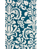 RugStudio presents Nuloom Hand Tufted Modern Scroll Blue Hand-Tufted, Good Quality Area Rug