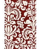 RugStudio presents Nuloom Hand Tufted Modern Scroll Orange Hand-Tufted, Good Quality Area Rug