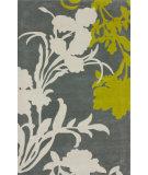 RugStudio presents Nuloom Hand Tufted Transitional Floral Grey Hand-Tufted, Good Quality Area Rug