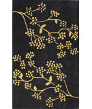 RugStudio presents Nuloom Hand Tufted Floral Vine Charcoal Hand-Tufted, Good Quality Area Rug