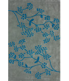 RugStudio presents Nuloom Hand Tufted Floral Vine Blue Chip Hand-Tufted, Good Quality Area Rug