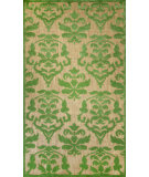 RugStudio presents Nuloom Machine Made Damask Alma Green Machine Woven, Good Quality Area Rug