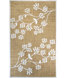 RugStudio presents Nuloom Machine Made Floral Amber Tan Machine Woven, Good Quality Area Rug