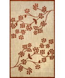 RugStudio presents Nuloom Machine Made Floral Amber Terra Machine Woven, Good Quality Area Rug