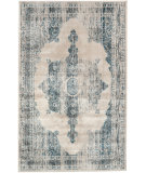 RugStudio presents Nuloom Machine Made Medallion Ivory Machine Woven, Good Quality Area Rug