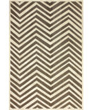 RugStudio presents Nuloom Machine Woven Velvet Chevron Brown Machine Woven, Good Quality Area Rug