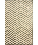 RugStudio presents Nuloom Machine Woven Velvet Chevron Cream Machine Woven, Good Quality Area Rug