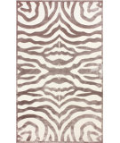 RugStudio presents Nuloom Machine Woven Velvet Zebra Cream Machine Woven, Good Quality Area Rug