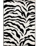 RugStudio presents Nuloom Machine Made Zebra Print Black And White Machine Woven, Good Quality Area Rug