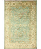 RugStudio presents Nuloom Hand Knotted Ziba Peshawar Light Blue Hand-Knotted, Good Quality Area Rug
