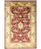 RugStudio presents Nuloom Hand Knotted Kimya Peshawar Burgundy Hand-Knotted, Good Quality Area Rug