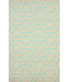 RugStudio presents Nuloom Hand Hooked Charles Indoor/ Outdoor Blue Hand-Hooked Area Rug