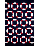 RugStudio presents Nuloom Hand Hooked Riviera Indoor/ Outdoor Navy Hand-Hooked Area Rug