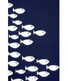 RugStudio presents Nuloom Hand Hooked Vivienne Indoor/ Outdoor Navy Hand-Hooked Area Rug