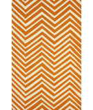 RugStudio presents Nuloom Hand Hooked Zig Zag Orange Hand-Hooked Area Rug