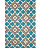 RugStudio presents Nuloom Hand Hooked Marcella Teal Hand-Hooked Area Rug