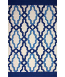 RugStudio presents Nuloom Hand Hooked Franca Indoor/Outdoor Blue Hand-Hooked Area Rug