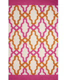 RugStudio presents Nuloom Hand Hooked Franca Indoor/Outdoor Pink Hand-Hooked Area Rug
