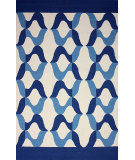 RugStudio presents Nuloom Hand Hooked Aldo Indoor / Outdoor Blue Hand-Hooked Area Rug