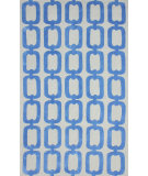 RugStudio presents Nuloom Hand Tufted Ilili Light Blue Hand-Tufted, Good Quality Area Rug