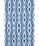 RugStudio presents Nuloom Hand Hooked Luciano Blue Hand-Hooked Area Rug