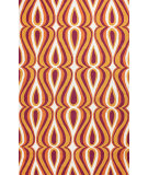 RugStudio presents Nuloom Hand Hooked Luciano Orange Hand-Hooked Area Rug