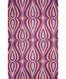 RugStudio presents Nuloom Hand Hooked Luciano Purple Hand-Hooked Area Rug