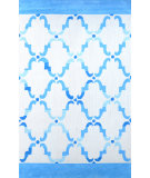 RugStudio presents Nuloom Hand Hooked Cotton Patti Blue Hand-Hooked Area Rug