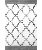 RugStudio presents Nuloom Hand Hooked Cotton Patti Grey Hand-Hooked Area Rug