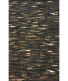 RugStudio presents Nuloom Hand Made Cowhide Patches Dark Brown Area Rug