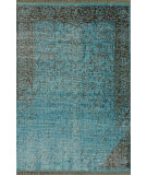 RugStudio presents Nuloom Hand Knotted Bristol Turquoise Hand-Knotted, Good Quality Area Rug